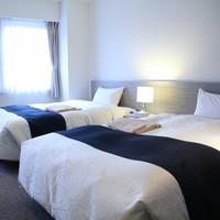 【喫煙】ツイン (ベッド幅123cm×2台)天然温泉付ホテル
