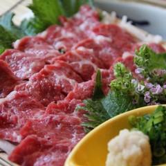 【九州ありがとうキャンペーン】2倍美味しい♪肥後牛ステーキ×極上馬刺し付!贅沢三昧プラン♪