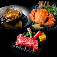 <個室食>◆プラス1品の幸せ!毛ガニorあわびor星空の黒牛ステーキ!【夕朝食付】