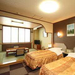 ◆眺望無指定和洋室(ツインベッド+6畳)