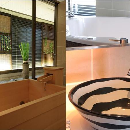 【スタンダードステイ】全8室すべてが 「炭酸泉付き高野槇風呂」もしくは「大きなバスタブのジャグジー」