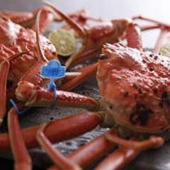 活カニも食べたい方へ「津居山カニ半身」をゆで蟹で♪【沢山食べられない方向き】カニコース NO.303