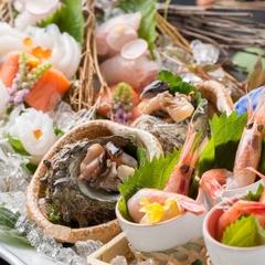 「かに+地魚姿造り+煮魚も♪」かに以外も食べたい♪「地魚&カニ会席」【夕食はお食事処】NO.335