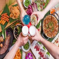 土日祝はディナーブッフェ、月〜金は森のビアガーデンで食べ放題&60種類の飲み放題付♪夕・朝食付