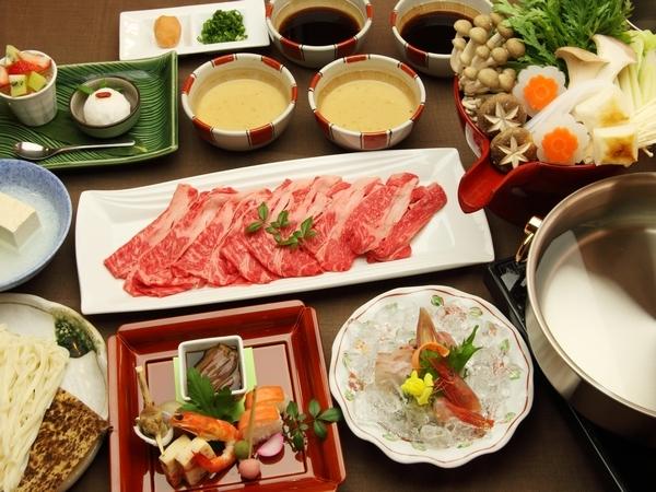 *富山で休もう。*【富山県産牛しゃぶしゃぶコースプランB 18:30スタート】 1泊2食付♪
