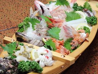 【楽天限定】【舟盛付き】日本海の旬の海幸を詰め込んで♪海鮮好きさんオススメ!海幸満足プラン