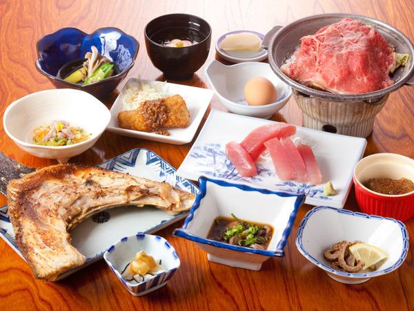 わかたけの定番!マグロ料理と鯨料理のわかたけプラン
