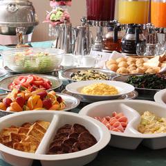 朝食バイキング付きプラン〜1日のスタートはメニューが豊富な朝食からいかがですか?