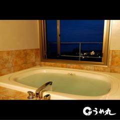 窓を開けると潮風が!海の見える半露天風呂・ジャグジー付和洋室