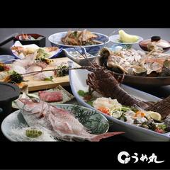 鯛フルコース伊勢海老・鮑の造り付 特別料理プラン(跳ねる活き鯛、焼き上り音が食欲誘う宝楽焼き付)