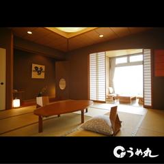鳴門海峡を見ながら、展望内風呂付和室12、5畳(別館)