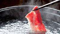 【鍋プラン×牛しゃぶ】ポン酢orゴマダレで♪牛肉をさっぱり味わえるしゃぶしゃぶ鍋<会場食>