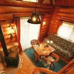 二人の距離縮まる ミニログハウス(露天風呂付、1棟2名用)