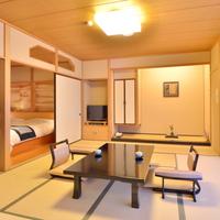 【和風庭園を望める1階和洋室】源泉掛流し足湯+内風呂+テラス