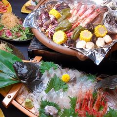 春の漁火焼き料理プラン・地魚の舟盛付
