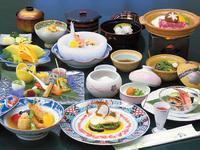 ≪当館のデラックスプランです≫料理旅館の最上級会席料理を愉しむ!【夕朝2食付 会席ふたばプラン】