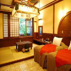 <18畳和洋室ツインベッド>部屋食・温泉露天・岩盤浴付