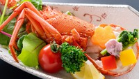 【旬彩物語/花時コース】金目鯛と春野菜の蒸篭蒸しに黒毛和牛ロースステーキ、イセエビ春野菜焼き