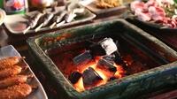 【戦国料理】当館名物!囲炉裏炭火焼きで素材本来の旨みと味をご賞味あれ!
