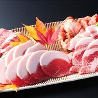 【美食の戦国料理】飛騨牛・寒天育ちの三浦豚・恵那地鶏・猪のお肉4種食べ比べをご堪能あれ!