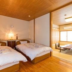 温泉ジェットバス・肩湯+ツインベッド和洋室(2階)【水月】