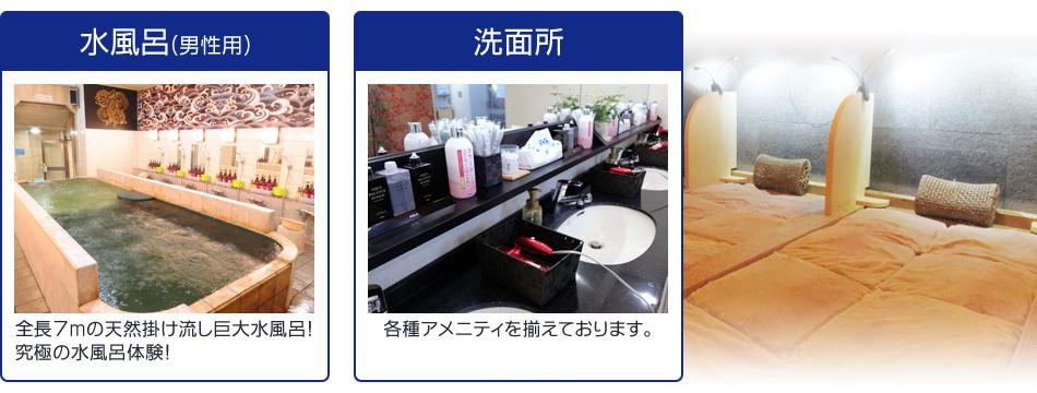 水風呂(男性用)洗顔所