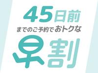 【早期割】45日前までのご予約でお得なプラン☆素泊り