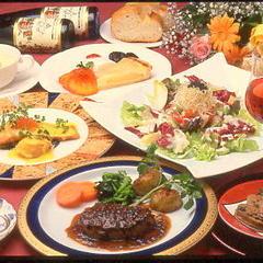 【料理自慢】☆ 世界三大珍味付フルコース★グルメプラン★手作りデザートは食べ放題☆