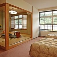 【山側和洋室】〔ツインベッド+6畳〕※10月より禁煙
