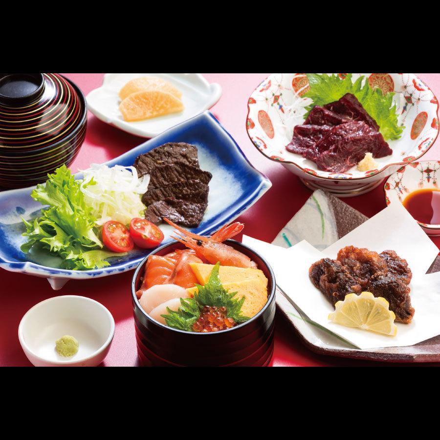 ◆ご当地グルメ♪くじら尽くしの『くじら膳』!新鮮な海鮮丼付き★【夕朝食付】