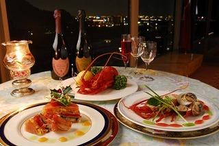 【クリスマス】展望レストランでクリスマス2020「ポインセチア」ディナーコース&ご宿泊プラン