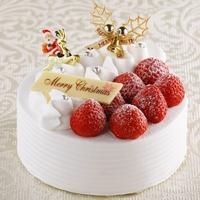 【クリスマス】苺のデコレーションケーキ付き (ご朝食付)