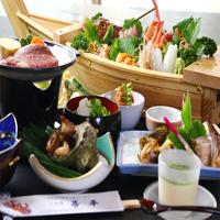 〈若狭牛・地魚舟盛〉お肉とお魚どちらも食べたい欲張りなあなたに!!【特選プラン】