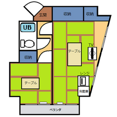 【禁煙】和室2間(28平米)・キッチン無し