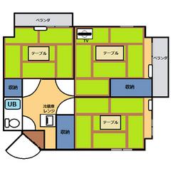 【禁煙】和室3間(40~50平米)・キッチン無し