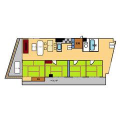 【禁煙】高層階和室4間(100平米)・キッチン付き