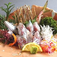 房総水揚げ!季節の旬魚逸品付き!房総食彩ビュッフェ(イサキ塩焼きと鰺の姿造り)