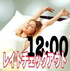 【当日限定】レイトチェックアウトプラン※お昼12時までゆっくり※