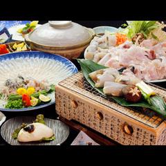 冬季限定◆白子付き◆食材にこだわりあり!とらふぐフルコース♪