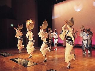 阿波踊り会館の毎日踊る阿波踊り、夜の部入場券付割引プラン、送迎付き。