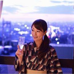 【夕食鉄板焼コース】グラスワイン&12時チェックアウトが嬉しい♪語ラッチ〜仲良くラブッチ〜(^^♪