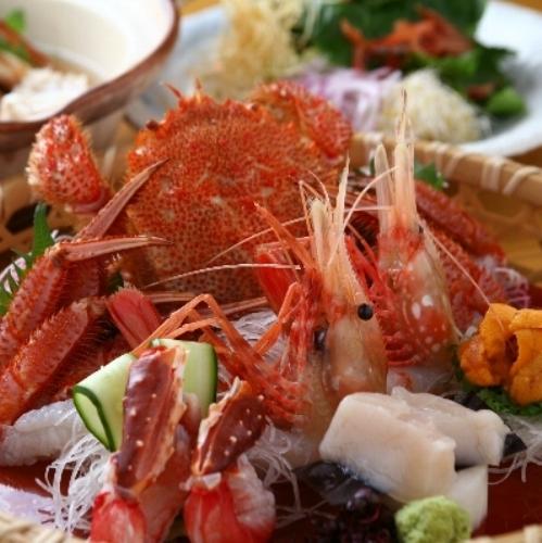 【蟹会席プラン】個室お食事処で蟹料理に舌鼓。特別な記念日にもおすすめ/展望風呂付客室(60平米以上)