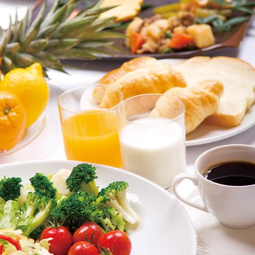【楽パック限定】朝食バイキング付プラン♪