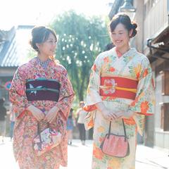 【きもの女子旅】和装で城下町散策へおでかけ〜ロクシタンなど嬉しい特典付き♪〜朝食付