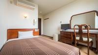 【スタンダード☆1名様用】セミダブルサイズのベッドで出張も快適!☆素泊り ◎全室Wi-Fi完備◎