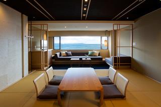【最上階準特別室】お部屋食で最高の贅沢を!淡路3年とらふぐ&伊勢海老&淡路牛会席
