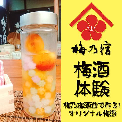 【☆お酒好き必見!☆】梅乃宿酒造で梅酒体験!あなただけのオリジナル梅酒♪【朝食付】