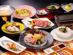 【冬グレードアップ】天然クエ・熊野牛・伊勢海老の「美味饗宴」