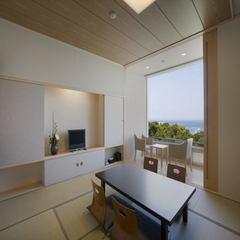 1枚ガラスで開放的シンプルモダン:西館和室10畳