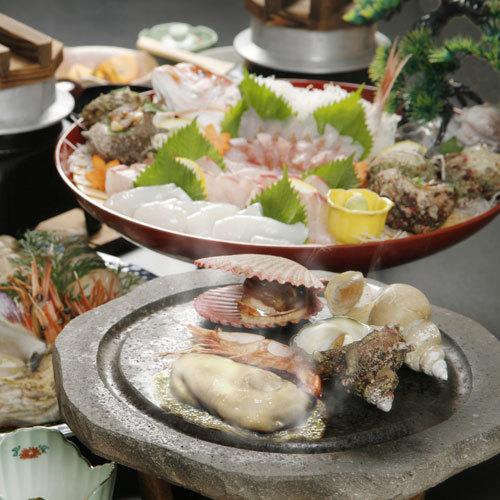 【絶品グルメ】お食事グレードアップ★海鮮石焼グルメ満喫プラン♪